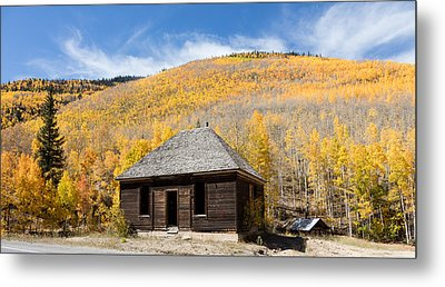 Abandoned Cabin Near The Old Mining Town Of Ironton Metal Print by Carol M Highsmith