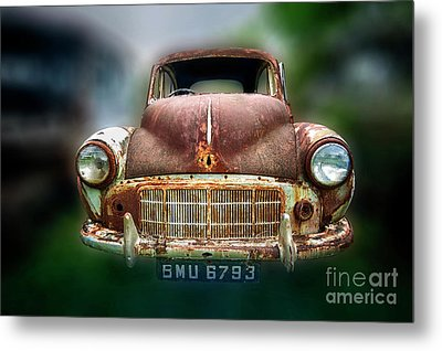 Metal Print featuring the photograph Abandoned Car by Charuhas Images