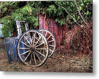 Metal Print featuring the photograph Abandoned Cart by Jim and Emily Bush