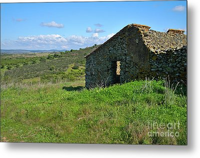 Abandoned Cottage In Alentejo Metal Print by Angelo DeVal