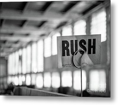 Abandoned Factory, Lewiston, Maine  -48683-bw Metal Print