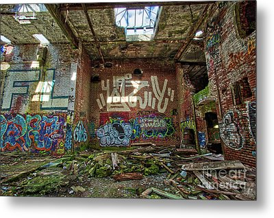 Metal Print featuring the photograph Abandoned Factory Newport New Hampshire by Edward Fielding