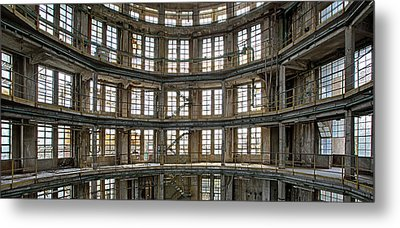 Metal Print featuring the photograph Abandoned Factory Tower - Panorama Industrial Decay by Dirk Ercken