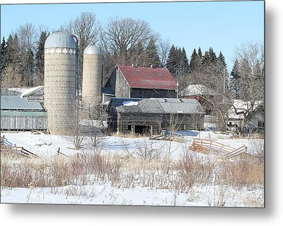 Abandoned Farm In Central Minnesota Metal Print by Laurie With