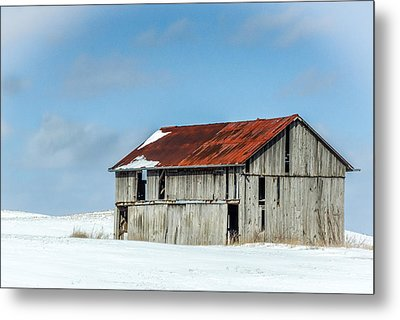 Abandoned Farm Site Metal Print by Nick Mares