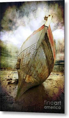 Abandoned Fishing Boat Metal Print by Meirion Matthias