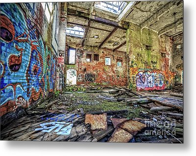 Metal Print featuring the photograph Abandoned Hartford Woolen Mill Newport New Hampshire by Edward Fielding
