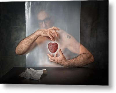 Abandoned Heart Metal Print by Vito Guarino