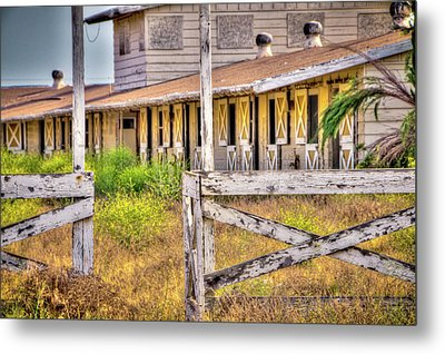 Abandoned Horse Stables Metal Print by Connie Cooper-Edwards