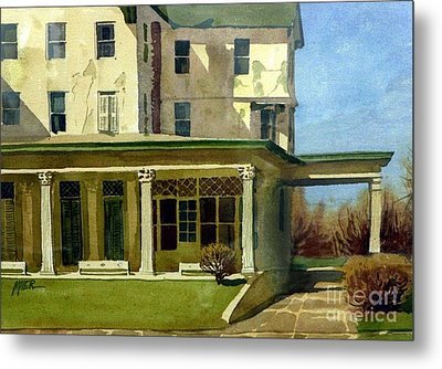 Abandoned Hotel Metal Print by Donald Maier