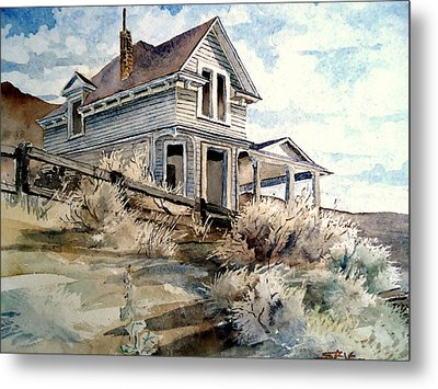 Abandoned House Metal Print by Steven Holder