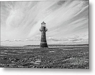Metal Print featuring the photograph Abandoned Light House Whiteford by Edward Fielding