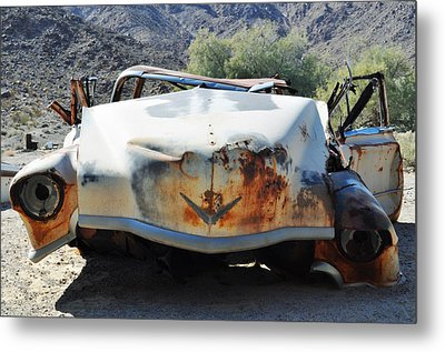 Metal Print featuring the photograph Abandoned Mojave Auto by Kyle Hanson
