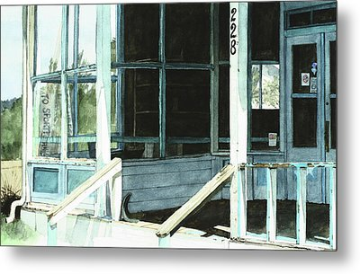 Abandoned Old Store Metal Print by Perry Woodfin