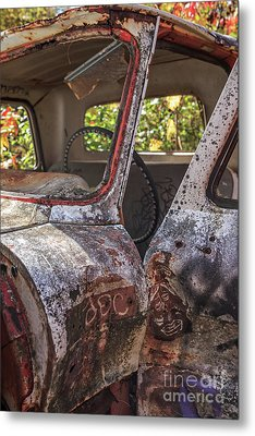 Metal Print featuring the photograph Abandoned Old Truck Newport New Hampshire by Edward Fielding