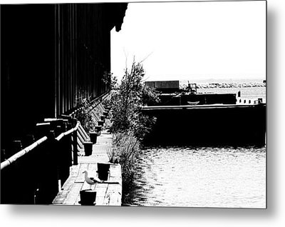 Abandoned Ore Dock Metal Print by Kendall Tabor