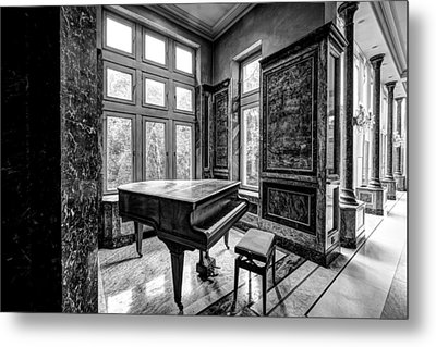 Abandoned Piano Monochroom- Urban Exploration Metal Print by Dirk Ercken