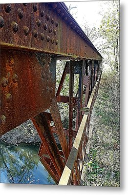 Abandoned Steel Bridge Nashville Indiana Metal Print