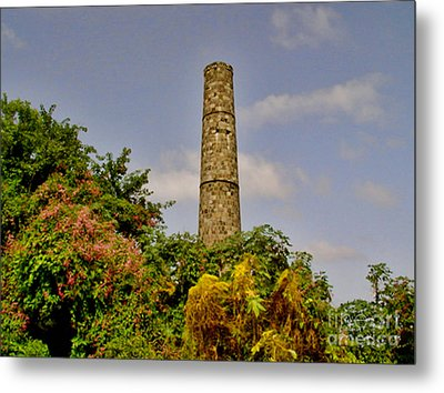 Abandoned Sugar Factory Nevis Metal Print by Louise Fahy