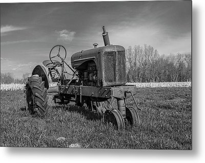 Abandoned Tractor Metal Print by William Morris
