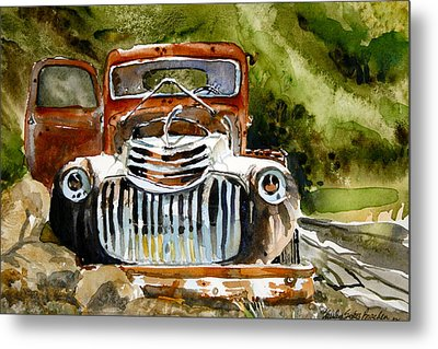 Abandoned Truck Metal Print by Shirley Sykes Bracken