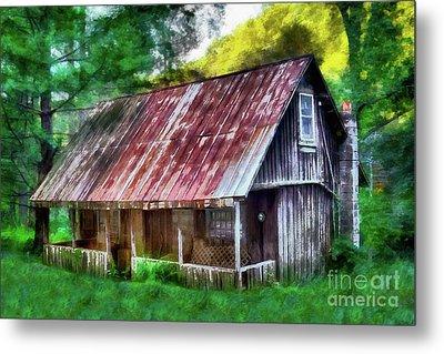 Abandoned Vintage House In The Woods Ap Metal Print by Dan Carmichael