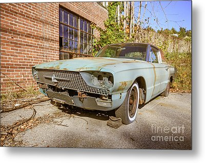 Metal Print featuring the photograph Abandoned Vintage Old Car Weare New Hampshire by Edward Fielding