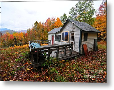 Abandoned With A View  Metal Print by Catherine Reusch Daley