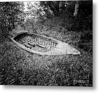 Metal Print featuring the photograph Abandoned Wooden Boat Alaska by Edward Fielding
