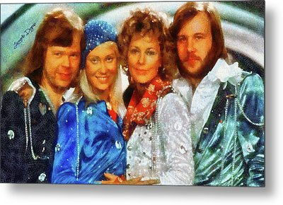 Abba At Eurovision 1974 Metal Print