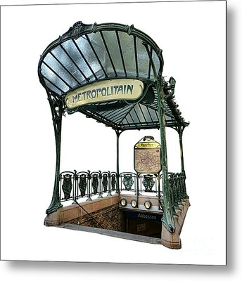 Abbesses  Metal Print by Olivier Le Queinec