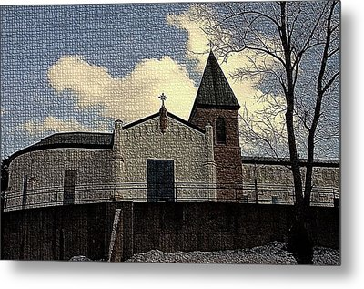 Abbey Of Gethsemani In Light Snow - Trappist Ky Metal Print by Thia Stover