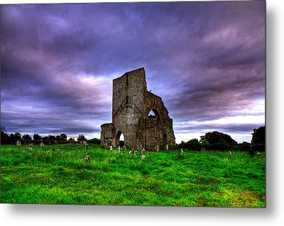 Abbeylara Abbey Metal Print by Kim Shatwell-Irishphotographer