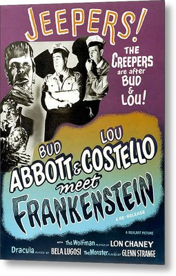 Abbott And Costello Meet Frankenstein Metal Print by Everett