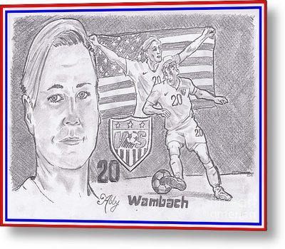 Abby Wambach Metal Print by Chris DelVecchio