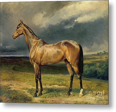 Abdul Medschid The Chestnut Arab Horse Metal Print by Carl Constantin Steffeck