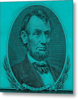 Metal Print featuring the photograph Abe On The 5 Aqua Blue by Rob Hans