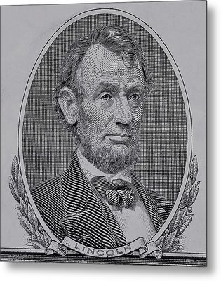 Metal Print featuring the photograph Abe On The 5 Gray by Rob Hans