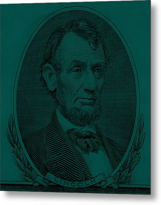 Metal Print featuring the photograph Abe On The 5 Greenishblue by Rob Hans