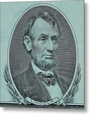 Metal Print featuring the photograph Abe On The 5 Lite Blue by Rob Hans