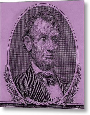 Metal Print featuring the photograph Abe On The 5 Pink by Rob Hans