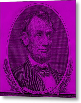 Metal Print featuring the photograph Abe On The 5 Purple by Rob Hans