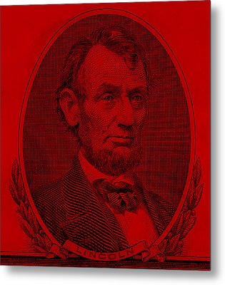 Metal Print featuring the photograph Abe On The 5 Red by Rob Hans