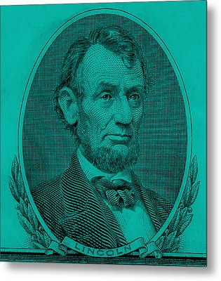 Metal Print featuring the photograph Abe On The 5 Turquoise by Rob Hans