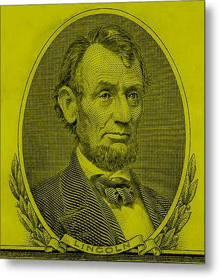 Metal Print featuring the photograph Abe On The 5 Yellow by Rob Hans