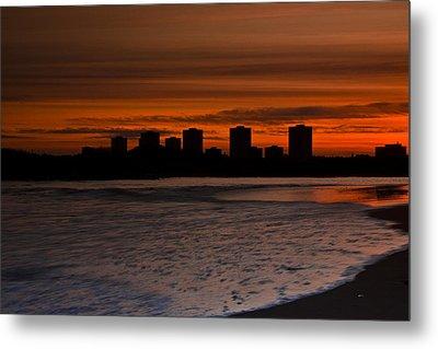 Aberdeen By Sunset Metal Print by Gabor Pozsgai
