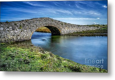 Aberffraw Bridge Metal Print by Adrian Evans