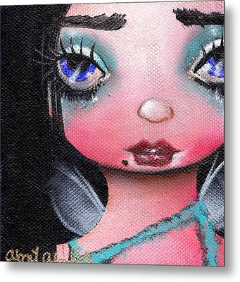 Abi  Metal Print by  Abril Andrade Griffith