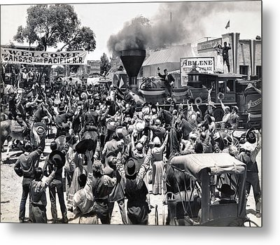 Abilene Movie Scene Metal Print by Underwood Archives