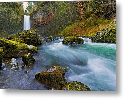 Abiqua Falls In Spring Metal Print by David Gn